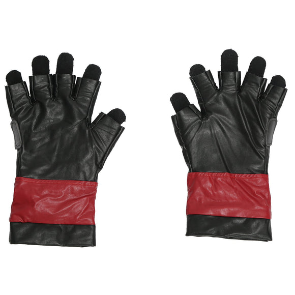 Xcoser Deadpool Leather Fingerless Woolen Gloves Cosplay Accessories