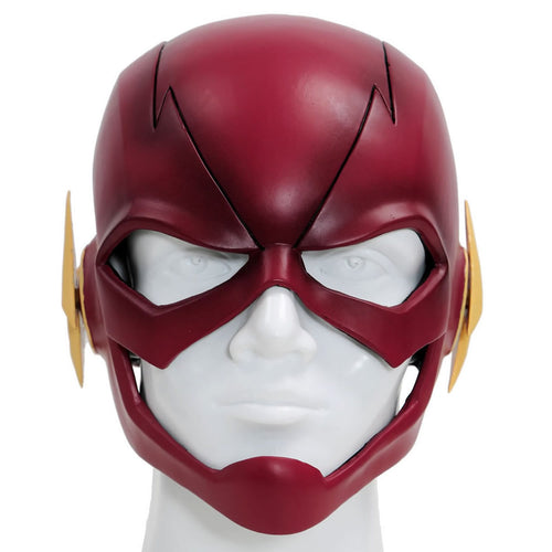 Halloween promotion The Flash Mask Flash Cosplay Helmet Resin Red Full Head Mask For Adult Halloween Masks TV New Version (Fast Shipping Immediately) - Xcoser Costume