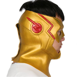 The Kid Flash Latex Mask Wally West  Cosplay