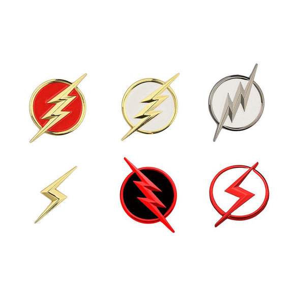 Xcoser The Flash Series Cosplay Accessory Flash Symbol Badges