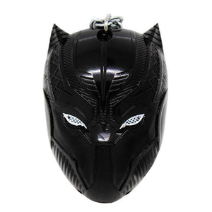 Black Panther Helmet Shape Keychain Accessories Black Panther Cosplay