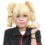 Juliet Starling Wig Lollipop Chainsaw Game Cosplay Short Blonde Curly Bunches Wig With Hair Clips - Xcoser Costume