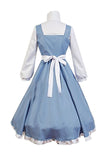 Princess Belle Costume Beauty and the Beast Belle Cosplay Apron Dress Adults Halloween Costume