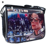 Michael Jackson Single-shoulder Bag Black PVC Messenger Bag - Xcoser Costume