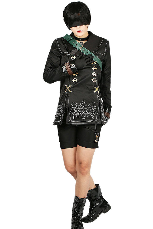 NieR: Automata 9S Costume Black Polyester Fibers Cosplay Costume Custom-made