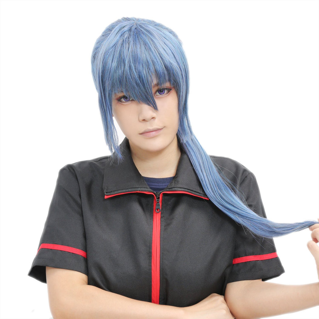 Alto Saotome Wig Macross F Cosplay Anime Grayish Blue Long Ponytail Wig - Xcoser Costume