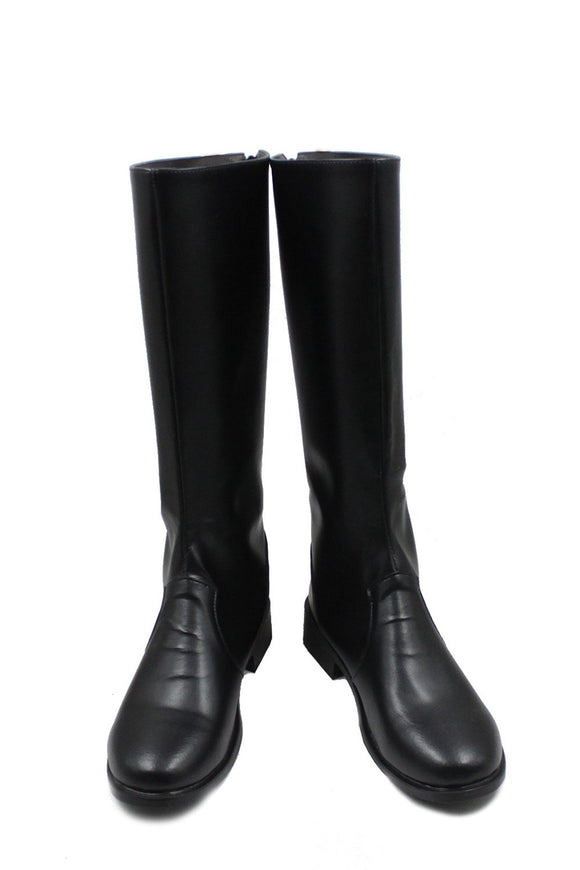 One Piece Sabo Black PU Knee-high Boots Riding Boots Sabo Cosplay Shoes
