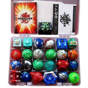 Bakugan Balls 24 Different Bakugan & 4 Metal Cards in Plastic Bakucase Christmas Gift For Kids - Xcoser Costume