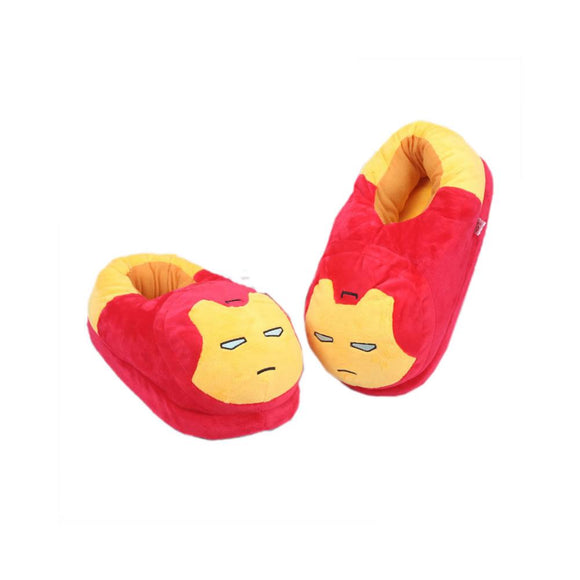 Super Heroes Design Cute Animal Shoes Winter Warm Plush Shoes