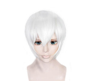 NieR:Automata 9S Wig White High Temperature Silk Short Cosplay Wig