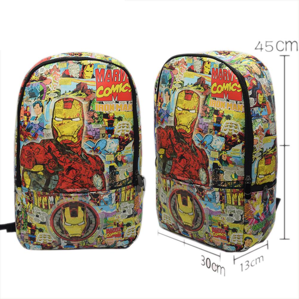 Deadpool Backpack Cartoon PU Large Capacity School Laptop Backpack - Xcoser Costume
