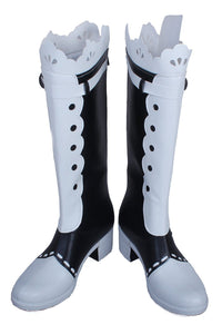 LoveLive! Hoshizora Rin Knee-high Boots PU leather Boots Anime Cosplay Shoes - Xcoser Costume