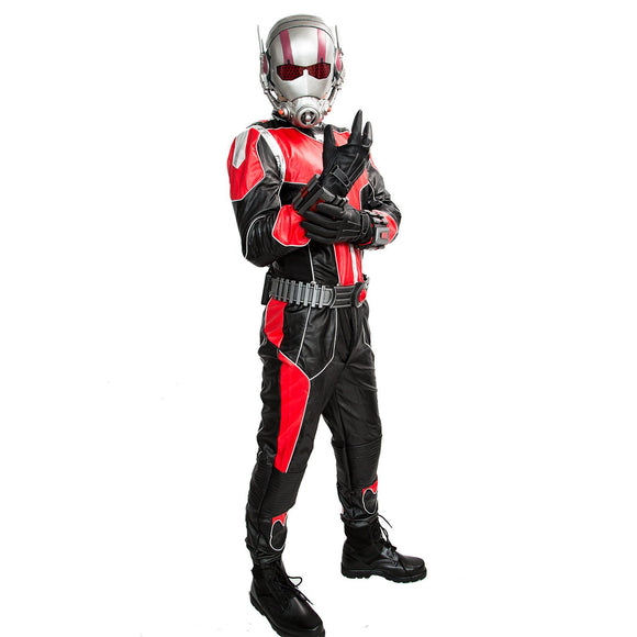 Ant Man Costume Ant-man Cosplay Suit Black and Red PU Outfit & Mask - Xcoser Costume