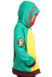 Xcoser Zip UP Hoodie Teenage Mutant Ninja Turtles Cosplay Costume Unisex Hoodie for Adults