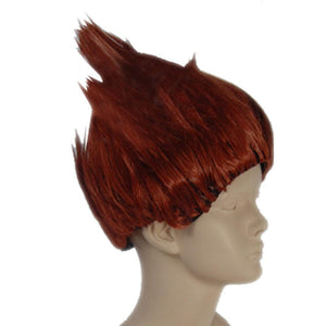 Chouji Akimichi Wig Naruto Chouji Cosplay Red Brown Prestyled Anime Costume Wig