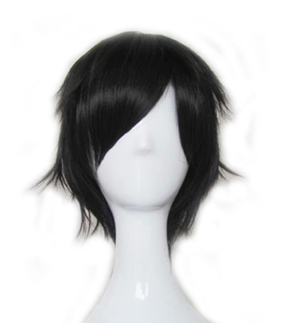 Domino Wig Black Short Straight Wig for Domino Cosplay - Xcoser Costume