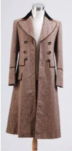 Doctor Who Brown Long Wind Coat Costume Costume - Xcoser Costume