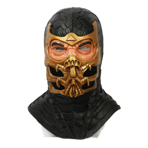 Xcoser Mortal Kombat 9 Game Cosplay Scorpion Fullhead Helmet Mask