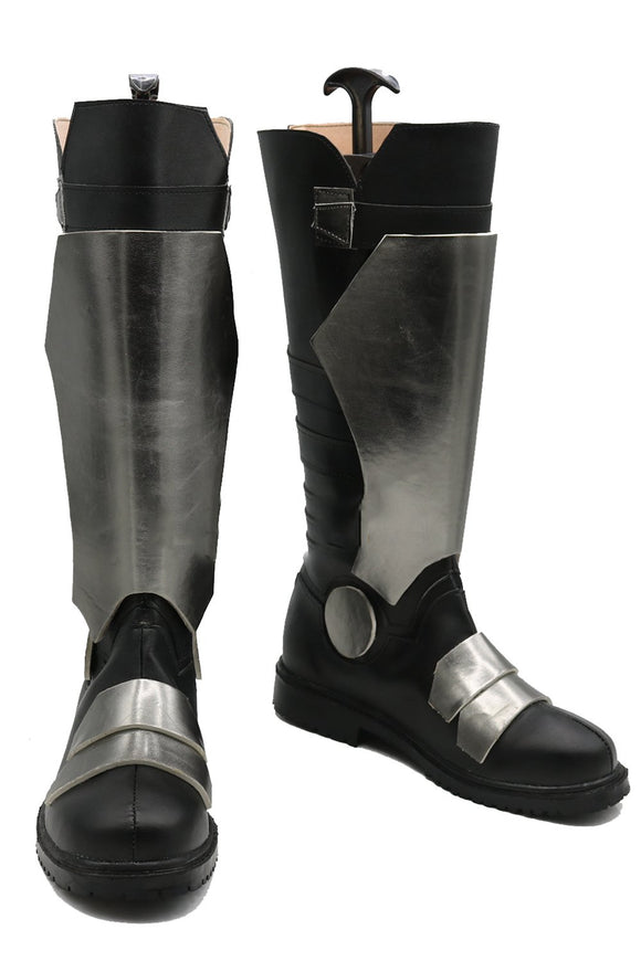 Overwatch Soldier 76 Cosplay Boots Black PU Knee-high Boots Halloween and Cosplay Shoes