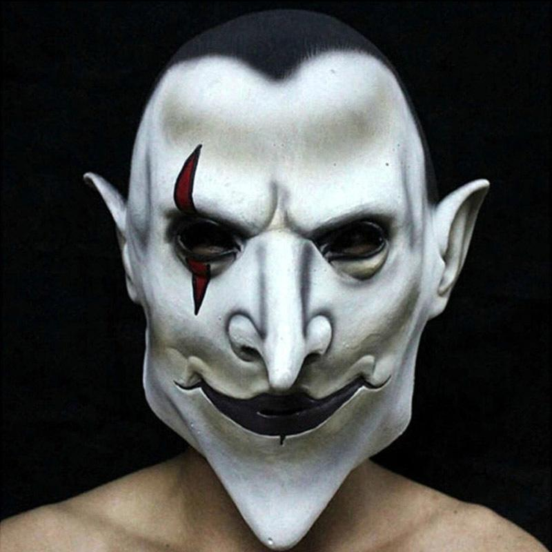 Xcoser Hellboy Horror Face Latex Mask for Halloween