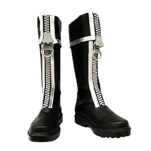 D Gray-man Allen Walker Shoes Adult PU Leather Cosplay Boots Custom Made - Xcoser Costume