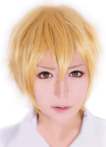Colonnello Wig Katekyo Hitman Reborn Cosplay Short Straight Golden Blonde Hair Anime Universal Style Cosplay Wig