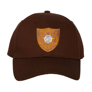 Xcoser The Walking Dead Rick Cosplay Baseball Cap Hat with Embroidered Sheriff's Badge Patch