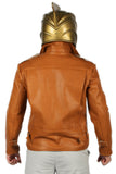 The Rocketeer Cosplay Costume Cliff Secord Brown Leather Jacket