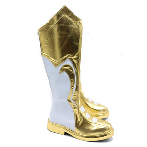 DC Comics Captain Marvel Shazam Same Boots PU Zipper Boots Shazam Cosplay Shoes - Xcoser Costume