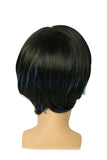 Xcoser New X-Men Nightcrawler Wig Short Blue and Black Blended Color Wig Nightcrawler Cosplay Wig