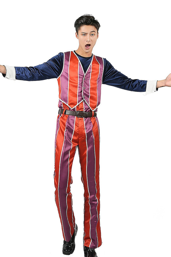 Lazy Town Robbie Rotten Cosplay Costume Dacron Fabric Orange Outfit Custom-made - Xcoser Costume