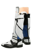 Mass Effect Scott Ryder & Sarah Ryder Cosplay Shoes Flat Patchy PU Leather Boots