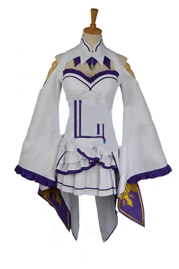 Re: Life in A Different World From Zero Costume Emilia Cosplay Costume