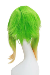 Gumi Wig Vocaloid Camellia Gumi Cosplay 45cm Short Straight Gradient Green Color Wig - Xcoser Costume