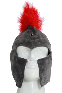 Sparta Roman Warrior Hat Cosplay Halloween Costume Accessories Gray Hat With Red Feather