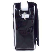 Black Butler Bag Cool Black Patent Leather Waterproof Messenger Bag Shoulder Bookbag For Men - Xcoser Costume