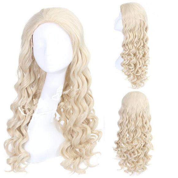 Alice Through the Looking Glass Cosplay Long Withe Wavy Costume Wig - Xcoser Costume