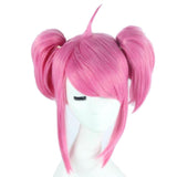Lux Wig League of Legends Lux Cosplay Short Pink Wig with Bunches Oblique Bangs Costume Wig - Xcoser Costume