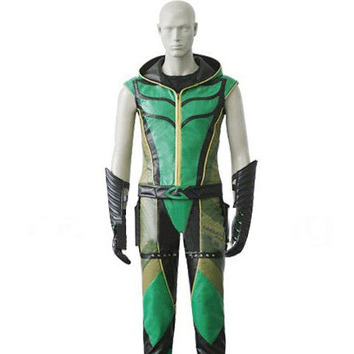 Green Arrow Costume Smallville Justice League Arrow Halloween Cosplay Outfit - Xcoser Costume