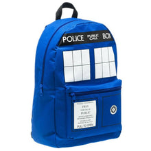 Doctor Who Backpack with Police Public Call Box Logo Backpack - Xcoser Costume