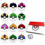 Pokemon Gym Keychains Necklace Kanto For Collection Set of 12
