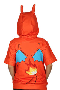 Pokemon Dragonite Hoodie Costume Half Sleeve Pullover Dragonite Cosplay Costume