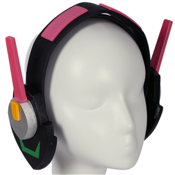 Xcoser Overwatch D.va Headphone Game COSplay Props