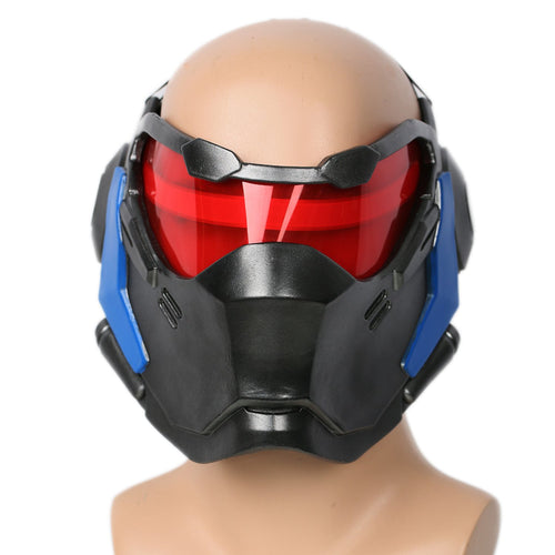 Xcoser Overwatch Soldier 76 Mask Cosplay Props with LED Light