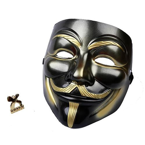 V Vendetta Mask White Color Cool Movie Cosplay Mask