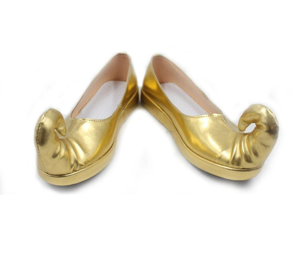 Aladdin Princess Shoes Elegant Golden Shoes for Cosplay - Xcoser Costume