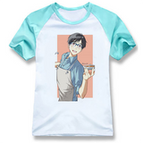Yuri on Ice T-shirt White Cotton T-shirt Simple & Fresh T-shirt