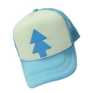 Dipper Pines Hat Embroidered Mesh Baseball Adjustable Tree Cap Cosplay Costume Accessories - Xcoser Costume