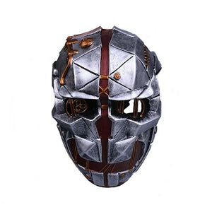 Dishonored 2 Corvo Attano Mask Gray Fiberglass Mask for Halloween Cosplay