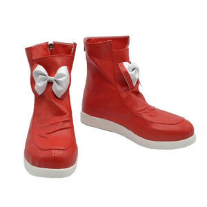 Fujiwara no Mokou Cosplay Touhou Project Anime Red PU Casual High Top Shoes - Xcoser Costume